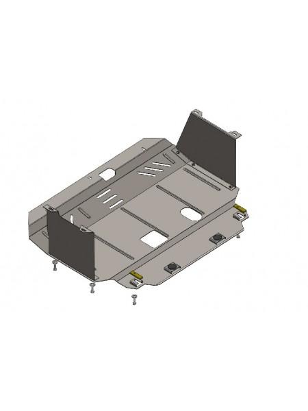 Защита двигателя, КПП, частично радиатора для авто Kia Ceed 2012-2015 V-все (МКПП, АКПП, только дизель) ( TM Kolchuga ) ZiPoFlex