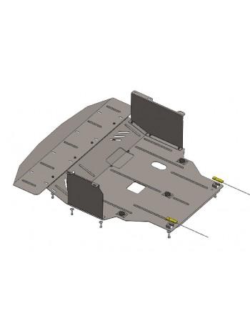 Защита двигателя, КПП, радиатора для авто Hyundai I-40 2011- V-2,0 (МКПП, АКПП, бензин) ( TM Kolchuga ) ZiPoFlex
