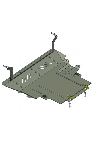 Защита двигателя, КПП, радиатора для авто Mazda 5 2005-2010 V-1.8; 2.0 (АКПП, МКПП) ( TM Kolchuga ) ZiPoFlex