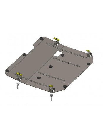 Защита двигателя, КПП, раздат. коробки для авто Chevrolet Captiva 2012- V-2,2 D ( TM Kolchuga ) ZiPoFlex
