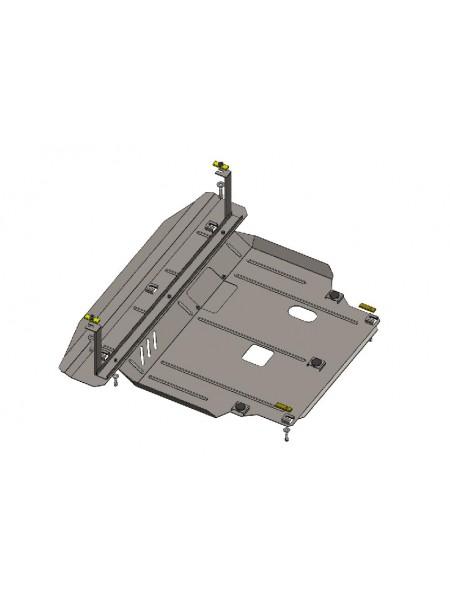 Защита двигателя, КПП, радиатора для авто Hyundai Santa Fe Grand Santa Fe 2012-2018 V-2,2D (АКПП, МКПП) ( TM Kolchuga ) ZiPoFlex