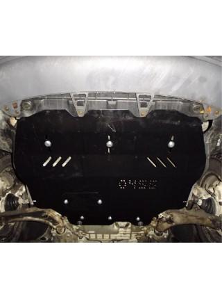 Защита двигателя, КПП, радиатора для авто Volkswagen Caddy WeBasto 2004-2010 V-все D (только электроусилитель) ( TM Kolchuga ) ZiPoFlex