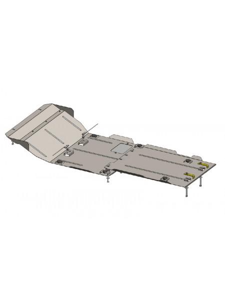 Защита двигателя, КПП, радиатора, раздат. коробки для авто Nissan Pathfinder IV 2012- V-2,5 D 3,5 кроме Hybrid ( TM Kolchuga ) ZiPoFlex