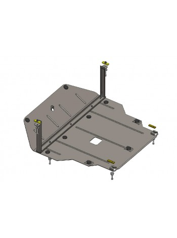 Защита двигателя, КПП, радиатора для авто Hyundai Tucson IX35 ( 2011-2021 ) V-2,4 (Арабский и Корейский рынок) ( TM Kolchuga ) ZiPoFlex