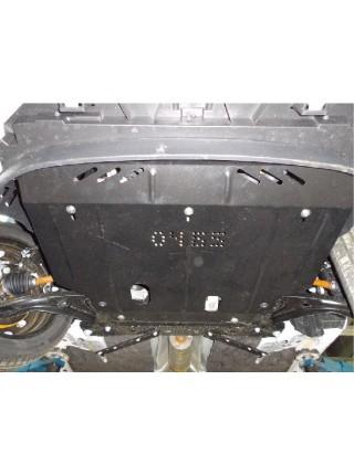 Защита двигателя, КПП, радиатора для авто Ford Fiesta VII EcoBoost 2012-2017 V-1,0 (кроме 3 дв.) ( TM Kolchuga ) Стандарт