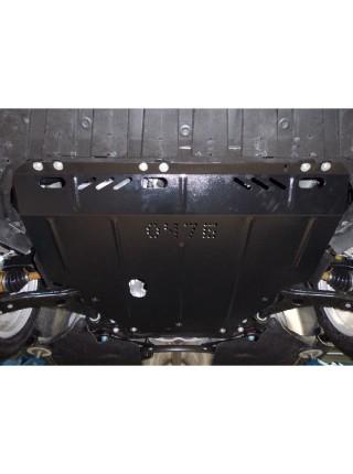 Защита двигателя, КПП, радиатора для авто Ford Focus III EcoBoost C-Max 2011- V-все (устанавливается на сборки USA/Hybrid) ( TM Kolchuga ) ZiPoFlex