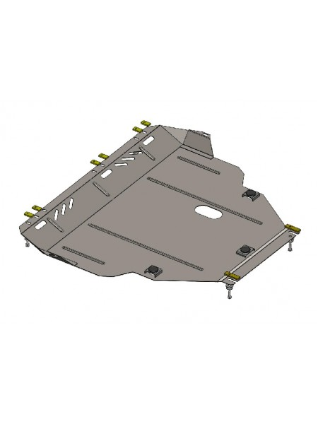 Защита двигателя, КПП, радиатора для авто Ford Focus ST 2016- V-2,0 2,0Т ( TM Kolchuga ) ZiPoFlex
