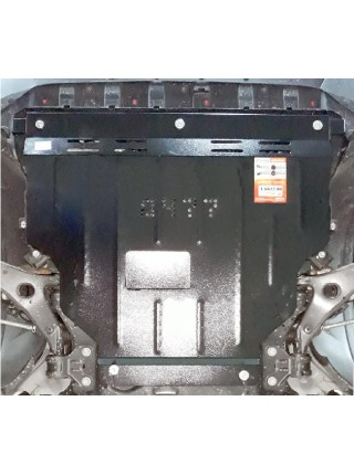 Защита двигателя, КПП, радиатора для авто Ford Escape 2012- V-все (АКПП, МКПП) ( TM Kolchuga ) ZiPoFlex