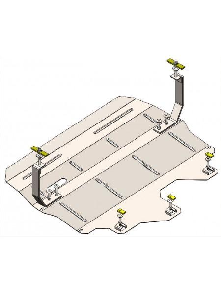 Защита двигателя, КПП, радиатора для авто Skoda Fabia III 2014- V-1,0 ( TM Kolchuga ) ZiPoFlex
