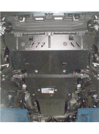 Защита двигателя, КПП, радиатора для авто Toyota Land Cruiser Prado J150 2009- V-2,7i; 3.0D; (дизель, бензин, только АКПП) ( TM Kolchuga ) ZiPoFlex