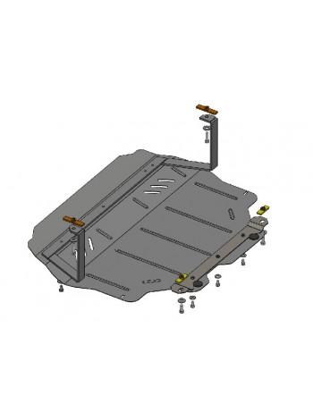 Защита двигателя, КПП, радиатора для авто Volkswagen Caddy GP 2010-2019 V-все ( TM Kolchuga ) Стандарт
