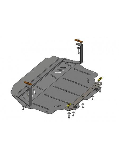 Защита двигателя, КПП, радиатора для авто Volkswagen Caddy GP 2010-2019 V-все ( TM Kolchuga ) ZiPoFlex