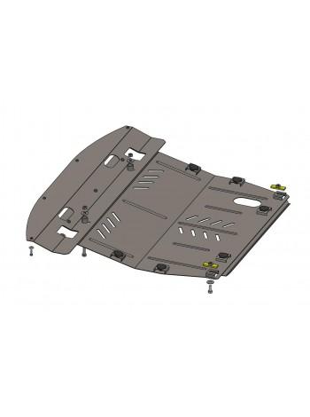 Защита двигателя, КПП, радиатора для авто Infiniti QX 60 2012- V-3,5 (АКПП) ( TM Kolchuga ) ZiPoFlex