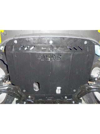 Защита двигателя, КПП, радиатора для авто Ford Fiesta VII EcoBoost 2012-2017 V-1,0 (только 3 дв.) ( TM Kolchuga ) ZiPoFlex