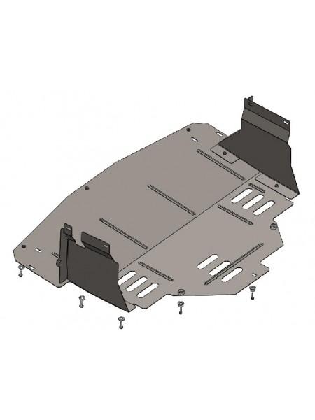 Защита двигателя, КПП, радиатора для авто Opel Movano 2010- V-все (все приводы) ( TM Kolchuga ) ZiPoFlex