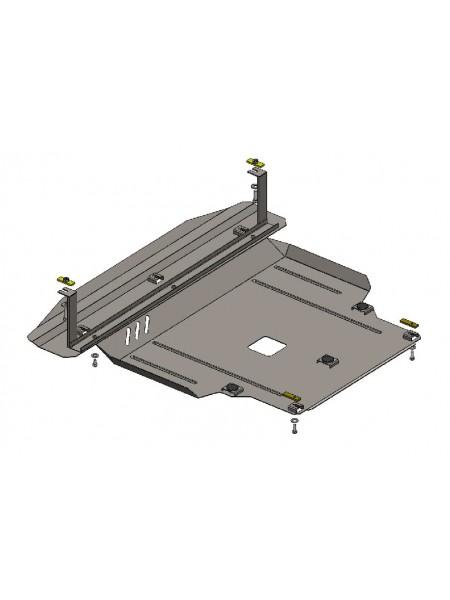 Защита двигателя, КПП, радиатора для авто Hyundai Santa Fe Grand Santa Fe 2012-2018 V-2,0; 2,4 (АКПП, МКПП) ( TM Kolchuga ) ZiPoFlex