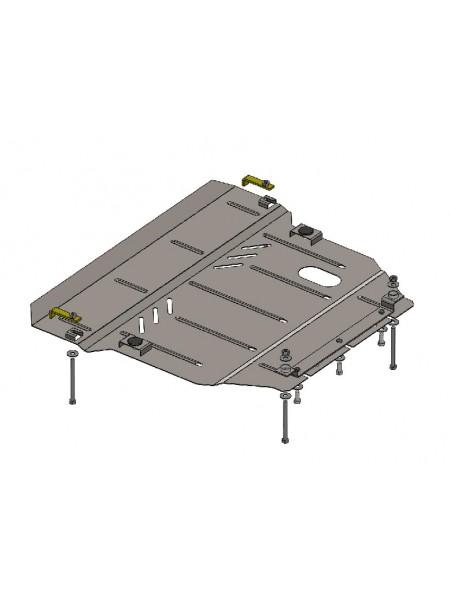 Защита двигателя, КПП, радиатора для авто BYD G6 2013- V 2,0 МКПП ( TM Kolchuga ) ZiPoFlex
