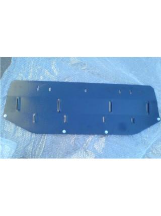 Защита только радиатора для авто Nissan Qashqai J10 2006-2014 V-все (защита радиатора, АКПП, МКПП) ( TM Kolchuga ) ZiPoFlex