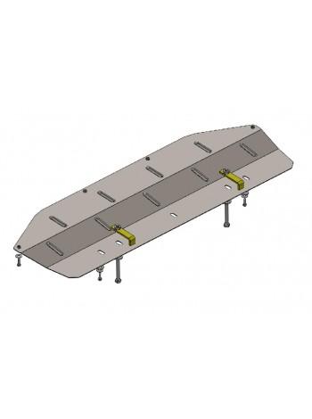 Защита только радиатора для авто Nissan Qashqai J10 2006-2014 V-все (защита радиатора, АКПП, МКПП) ( TM Kolchuga ) Стандарт