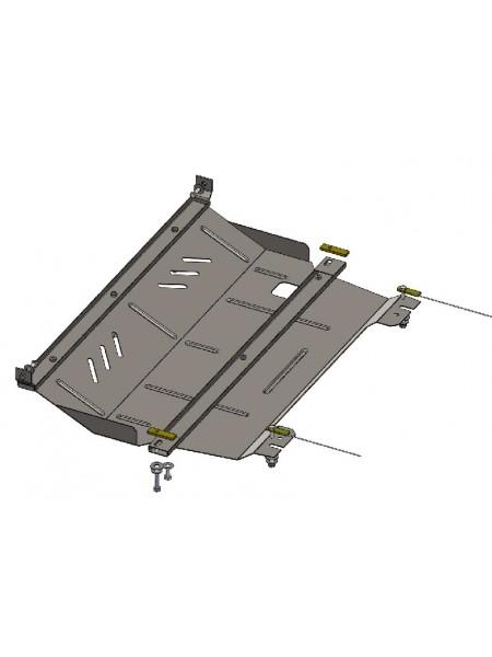 Защита двигателя, КПП, радиатора для авто Peugeot 208 2012- V- 1,0; 1,2; 1,6THP; ( TM Kolchuga ) ZiPoFlex