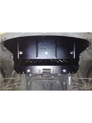 Защита радиатора для авто BMW X1 (E84) 2009-2015 V-2,0D; 2,0 USA; (АКПП, 4х4) ( TM Kolchuga ) ZiPoFlex
