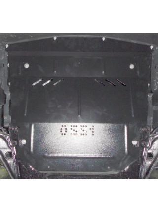 Защита двигателя и КПП и радиатора для авто Renault Kadjar 2014- V-1,2TCe; 1,5DCI; (АКПП, МКПП) ( TM Kolchuga ) ZiPoFlex