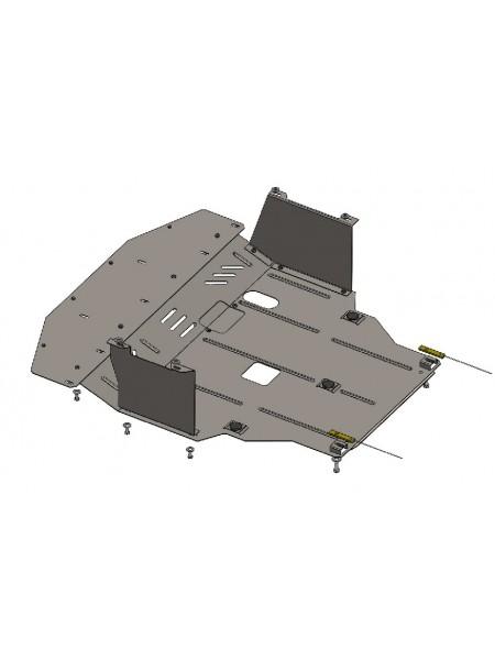 Защита двигателя, КПП, радиатора для авто Hyundai Elantra V (F L) 2014-2016 V-1,6 ( TM Kolchuga ) ZiPoFlex