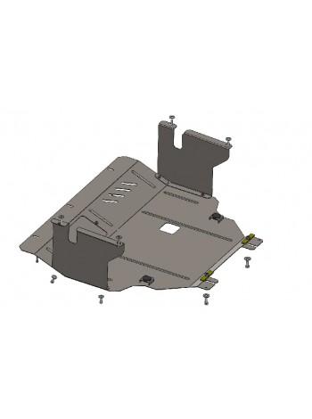 Защита двигателя, КПП, радиатора для авто Opel Vivaro 2001-2014 V-2,5D ( TM Kolchuga ) ZiPoFlex