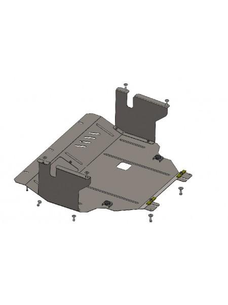 Защита двигателя, КПП, радиатора для авто Renault Trafic 2001- V-2,5D ( TM Kolchuga ) ZiPoFlex
