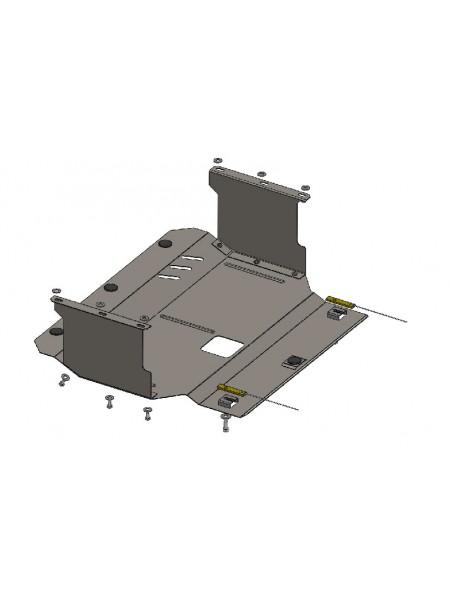 Защита двигателя, КПП, радиатора для авто Hyundai I-10 2014- V-все ( TM Kolchuga ) ZiPoFlex