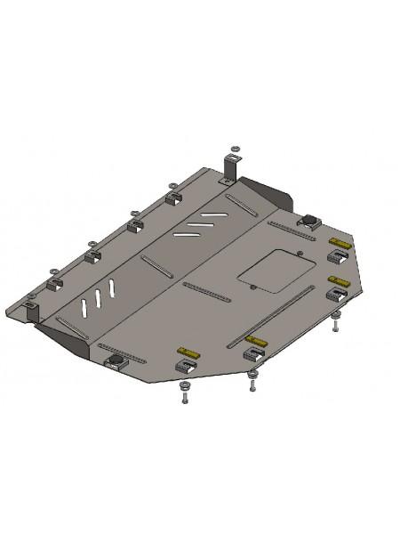 Защита двигателя, КПП, радиатора для авто Mazda CX-5 2012-2017- V-все ( TM Kolchuga ) Стандарт
