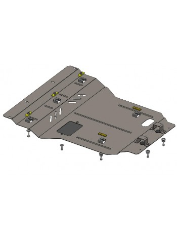 Защита двигателя, радиатора для авто Lexus GS 430 2005-2012 V-4,3 (АКПП, только задний привод) ( TM Kolchuga ) Стандарт