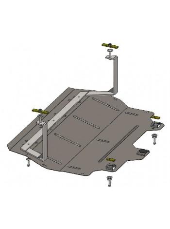 Защита двигателя, КПП, радиатора для авто Skoda Fabia II 2007- только V-1,2 ( TM Kolchuga ) Стандарт