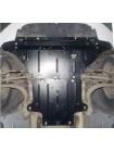 Защита двигателя, КПП, радиатора для авто Audi A4 В8 2007-2011 V-1,8; 2,0TFSI; (только гидроусилитель) ( TM Kolchuga ) ZiPoFlex