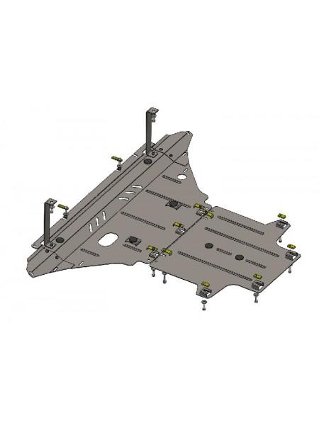 Защита двигателя, КПП, радиатора для авто Audi A4 B6 A4 В7 2000-2008 V-все ( TM Kolchuga ) ZiPoFlex