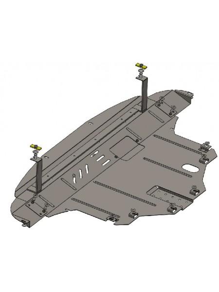 Защита двигателя, КПП, радиатора для авто Kia Sorento III 2015- V-2,2 CRDI; 2,4GDI USA ;( TM Kolchuga ) ZiPoFlex