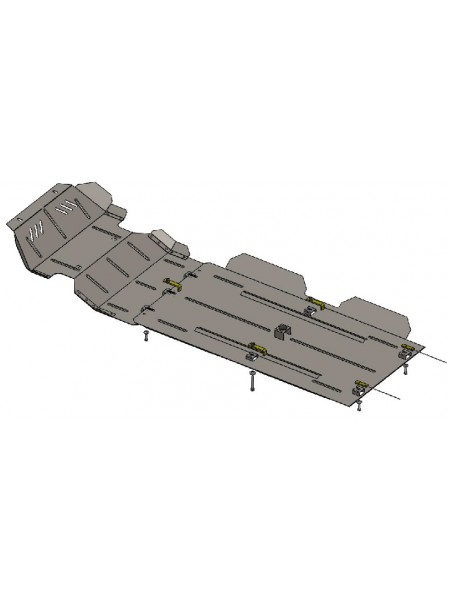 Защита двигателя , КПП, радиатора, раздат. коробки, редуктор для авто Great Wall Wingle6 2014- V-2,4 (МКПП) ( TM Kolchuga ) ZiPoFlex
