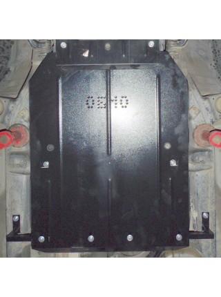 Защита КПП и РКПП для авто Toyota Land Cruiser Prado 120 2002-2009 V-4.0; V6; V-2,7;  (защищает только КПП та РКПП) ( TM Kolchuga ) ZiPoFlex