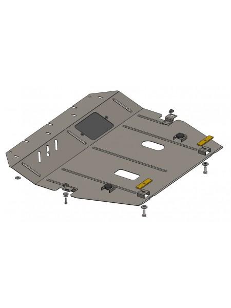 Защита двигателя, КПП, радиатора для авто Nissan Sentra 2014-2016 V-1,6и ( TM Kolchuga ) ZiPoFlex