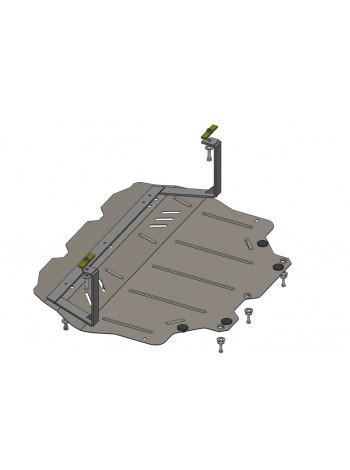 Защита двигателя, КПП, радиатора для авто Volkswagen Jetta 2011- V-все (АКПП, МКПП, все сборки) ( TM Kolchuga ) Стандарт