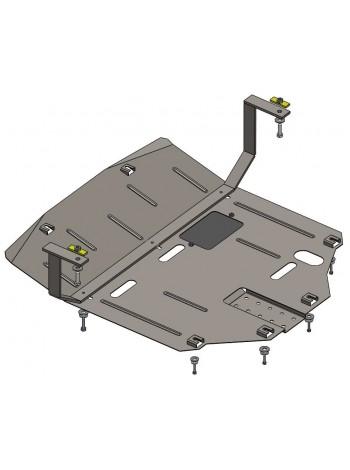 Защита двигателя, КПП, радиатора для авто Hyundai Tucson ( 2015-2021 ) V-все (устанавливается поверх штатной зашиты) ( TM Kolchuga ) Стандарт