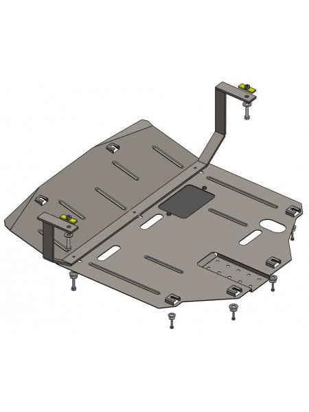 Защита двигателя, КПП, радиатора для авто Kia Sportage IV QL 2016- V-все (устанавливается поверх штатной защиты) ( TM Kolchuga ) ZiPoFlex