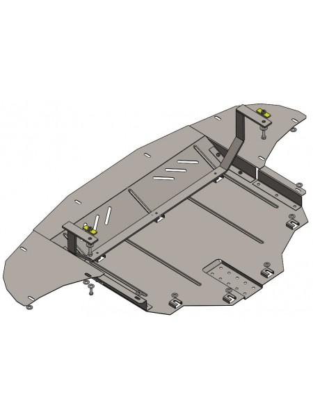 Защита двигателя, КПП, радиатора для авто Hyundai Tucson TL 2015- V-2,0i 1,7CRDI 2,0CRDI ( TM Kolchuga ) ZiPoFlex