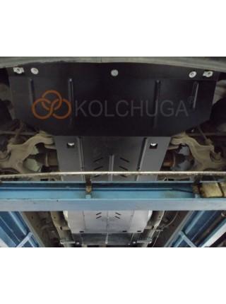 Защита двигателя, КПП, РКПП, радиатора для авто Dodge Ram 1500 2009-2019 V-5.7HEMI, SLT, (АКПП, 4x4, 3мм сталь) ( TM Kolchuga ) ZiPoFlex