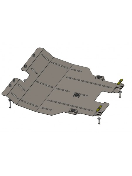Защита двигателя, КПП, радиатора для авто Chery Tiggo 5 2014- V-1,6i 2,0 МКПП ( TM Kolchuga ) ZiPoFlex