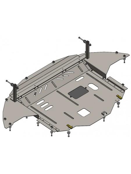 Защита двигателя, КПП, радиатора для авто Hyundai Elantra VI (AD) 2016- V-1,6GDI; 2,0 (АКПП) ( TM Kolchuga ) ZiPoFlex