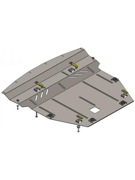 Защита двигателя, КПП, радиатора для авто Nissan Rogue Sport 2012- V-все (АКПП, USA)  ( TM Kolchuga ) ZiPoFlex