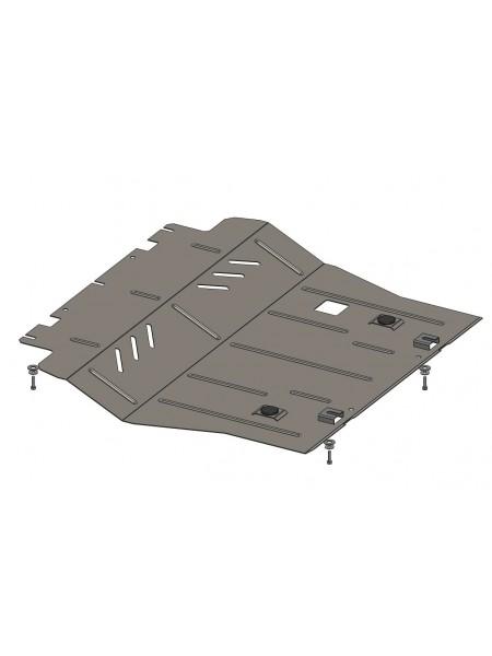 Защита двигателя, КПП, радиатора для авто Citroen C4 Picasso 2013-2018 V-1,6 HDI (МКПП) ( TM Kolchuga ) ZiPoFlex