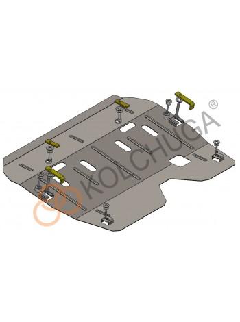 Защита двигателя, КПП для авто Renault Logan 2004-2012 V-1,4; 1,6; (МКПП) ( TM Kolchuga ) Стандарт