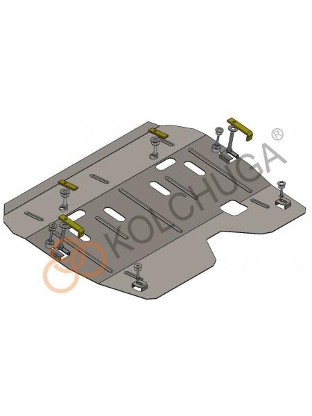Защита двигателя, КПП для авто Renault Logan 2004-2012 V-1,4 1,6 МКПП ( TM Kolchuga ) ZiPoFlex